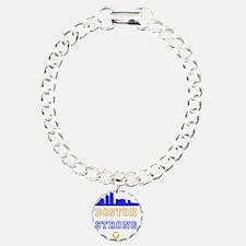 Boston Strong Skyline Blue and Gold Bracelet
