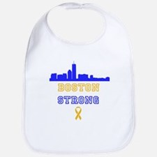 Boston Strong Skyline Blue and Gold Bib