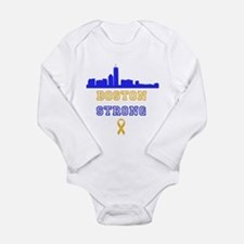 Boston Strong Skyline Blue and Gold Body Suit