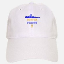 Boston Strong Skyline Blue and Gold Baseball Baseball Baseball Cap