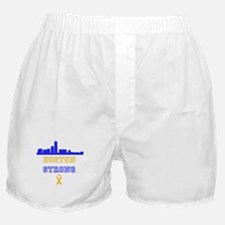 Boston Strong Skyline Blue and Gold Boxer Shorts