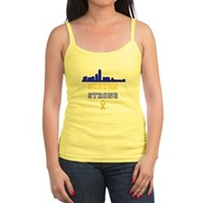 Boston Strong Skyline Blue and Gold Tank Top