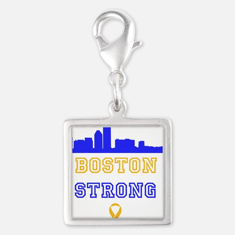 Boston Strong Skyline Blue and Gold Charms