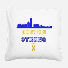 Boston Strong Skyline Blue and Gold Square Canvas