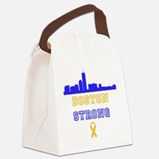 Boston Strong Skyline Blue and Gold Canvas Lunch B