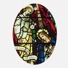 Annunciation Christmas Ornament (Oval)