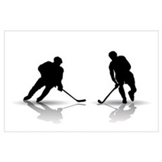Hockey Players Silouettes Poster