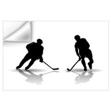 Hockey Players Silouettes Wall Decal