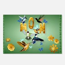 Mom-Bath me in hummingbir Postcards (Package of 8)