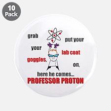 """Professor Proton 3.5"""" Button (10 pack)"""