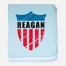 Reagan Patriot Shield baby blanket