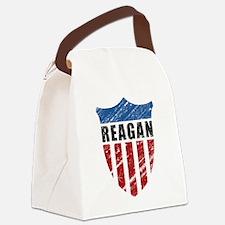 Reagan Patriot Shield Canvas Lunch Bag