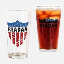 Reagan Patriot Shield Drinking Glass