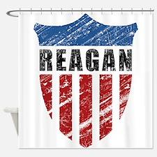 Reagan Patriot Shield Shower Curtain