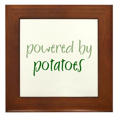 Powered By potatoes Framed Tile