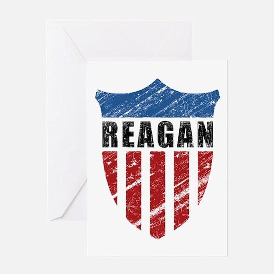 Reagan Patriot Shield Greeting Card