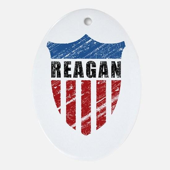 Reagan Patriot Shield Ornament (Oval)