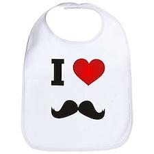 I Heart Mustache Bib