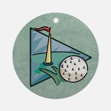 Golfing Green Ornament (Round)