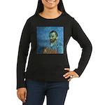 Vincent's Cat Women's Long Sleeve Dark T-Shirt