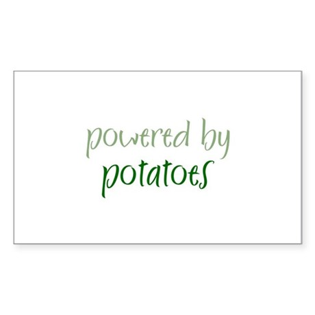 Powered By potatoes Rectangle Sticker