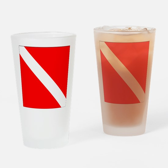 Dive Flag 1 Drinking Glass