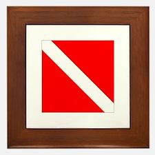 Dive Flag 1 Framed Tile