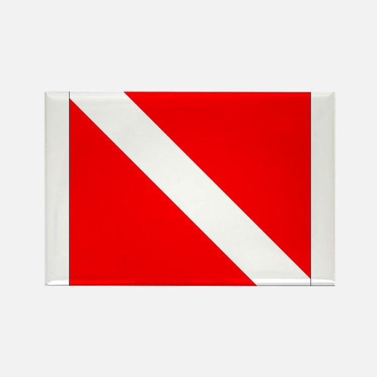 Dive Flag 1 Rectangle Magnet