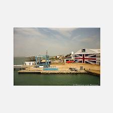 Isle of Wight Union Jack Doors Rectangle Magnet