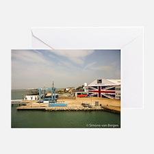 Isle of Wight Union Jack Doors Greeting Cards (Pk
