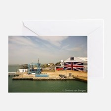 Isle of Wight Union Jack Doors Greeting Card