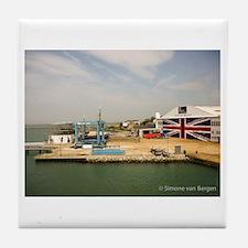 Isle of Wight Union Jack Doors Tile Coaster