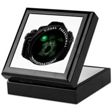 visual paranormal investigations Keepsake Box