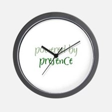 Powered By presence Wall Clock