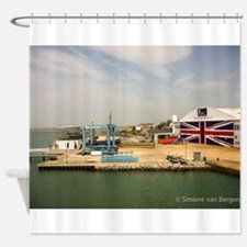 Isle of Wight Union Jack Doors Shower Curtain