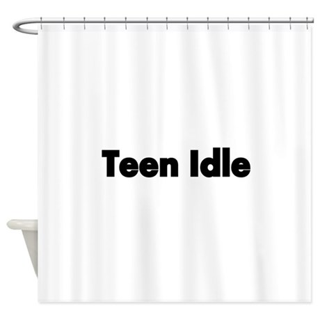 Teen Idle Shower Curtain By Terriblyhumoroustees