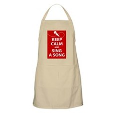 Keep calm and sing a song. Carry a tune. Apron