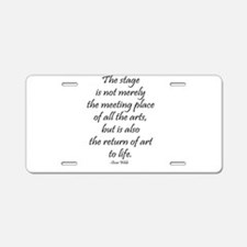 Oscar Wilde Aluminum License Plate