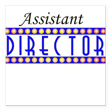 """assistant.psd Square Car Magnet 3"""" x 3"""""""