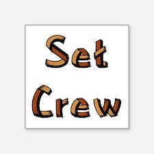 "setcrewrblack.psd Square Sticker 3"" x 3"""
