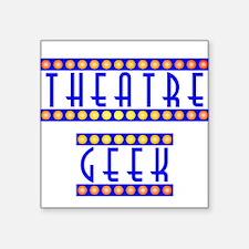 "theatregeek2.psd Square Sticker 3"" x 3"""