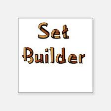"setbuilderblack.psd Square Sticker 3"" x 3"""