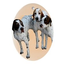 English Pointers Oval Ornament