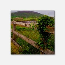 "Irish fence.jpg Square Sticker 3"" x 3"""