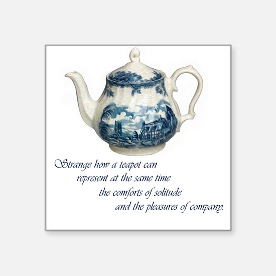 "teapot.jpg Square Sticker 3"" x 3"""