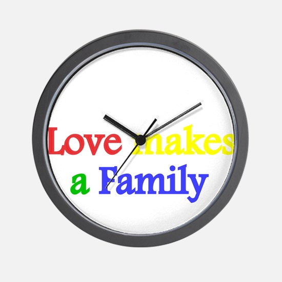 Love makes a family 2 Wall Clock