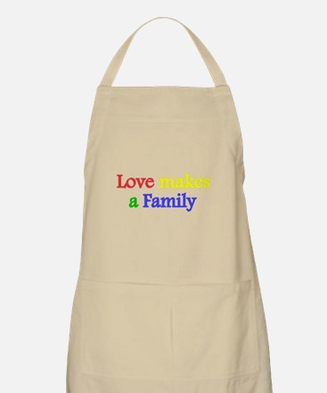 Love makes a family 2 Apron