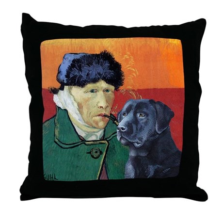Winter Lab Throw Pillow