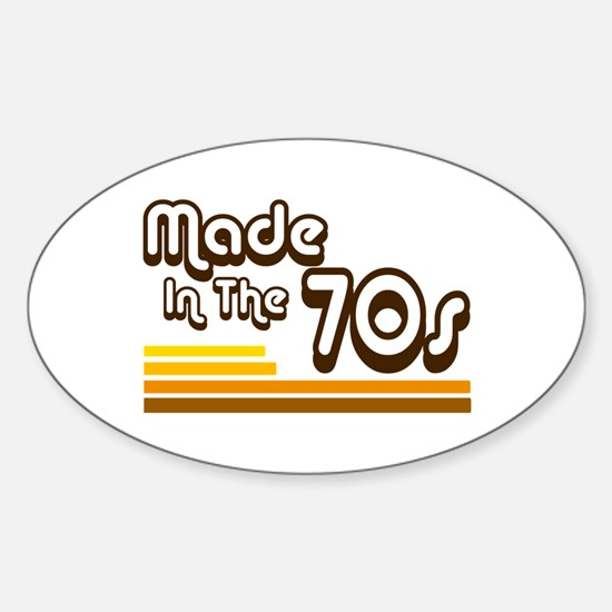 'Made in the 70s' Sticker (Oval)