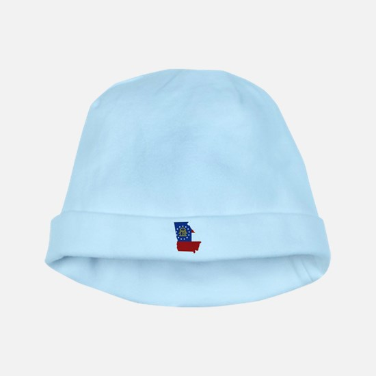 Georgia Flag baby hat
